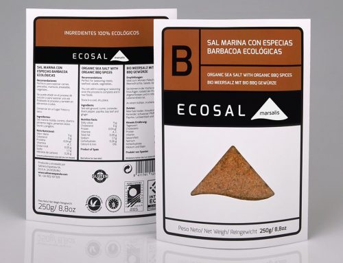 Ecosal 'B' sea salt with organic barbecue spices