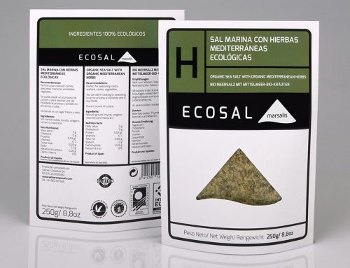 Ecosal 'H' sea salt with organic Mediterranean herbs