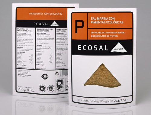 Ecosal 'P' sea salt with organic peppers